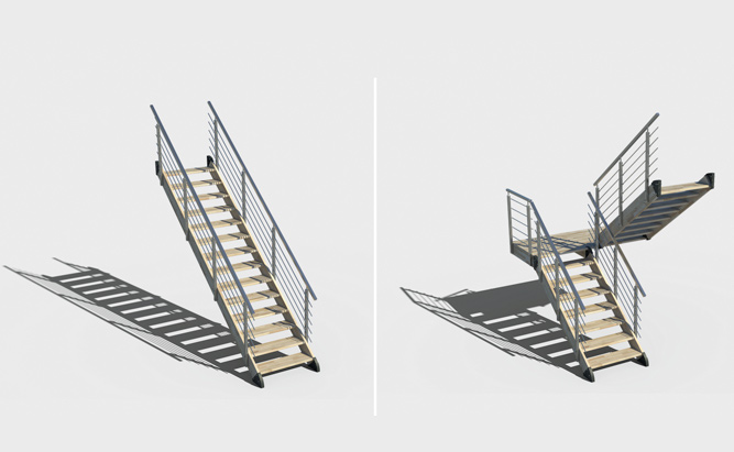 Modulový konfigurátor schodiště